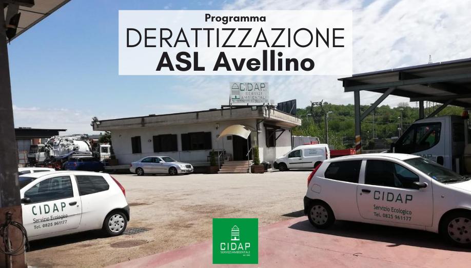 Programma derattizzazione Asl Avellino Luglio 2020