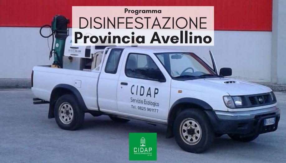 Programma disinfestazione Provincia Avellino luglio agosto 2020