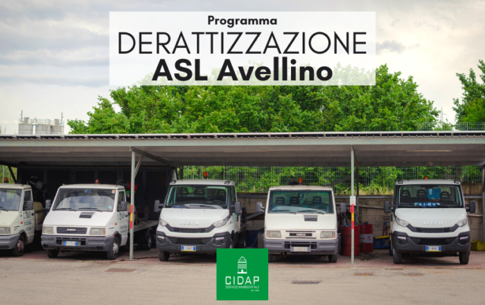 Programma derattizzazione ASL Avellino settembre/ottobre 2020