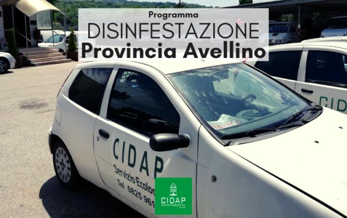 Programma disinfestazione Provincia Avellino settembre 2020