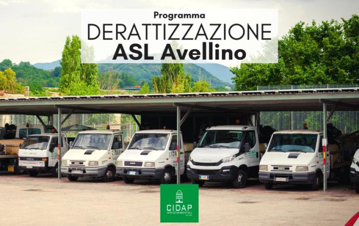 Programma derattizzazione ASL Avellino ottobre/novembre 2020