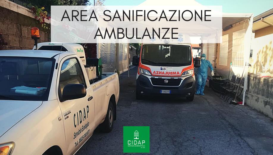 Area sanificazione ambulanze Covid-19 Pronto soccorso Avellino