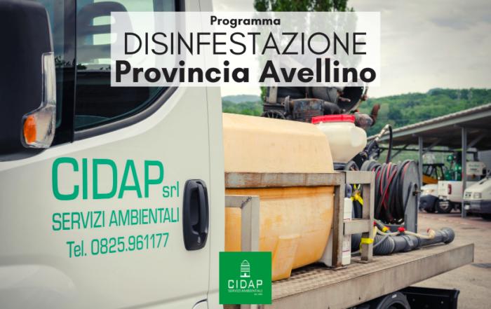 Provincia Avellino programma di disinfestazione aprile 2021