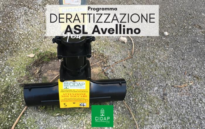 Programma derattizzazione ASL Avellino giugno/luglio 2021