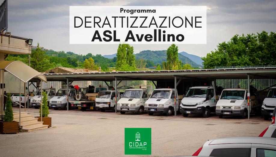 Programma derattizzazione ASL Avellino luglio/agosto 2021