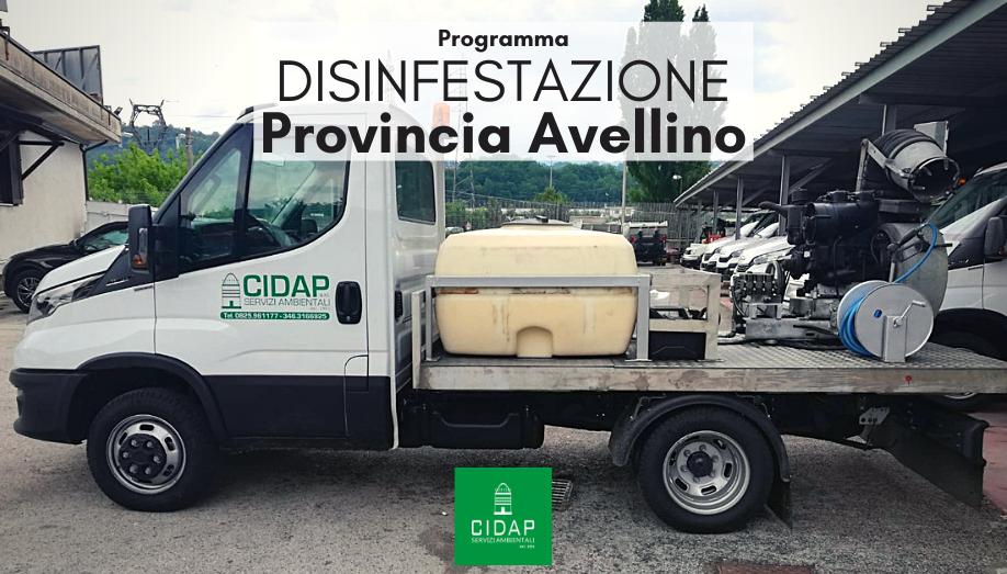 Provincia Avellino, programma di disinfestazione luglio 2021