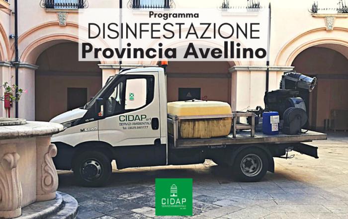 Provincia Avellino programma di disinfestazione agosto/settembre 2021